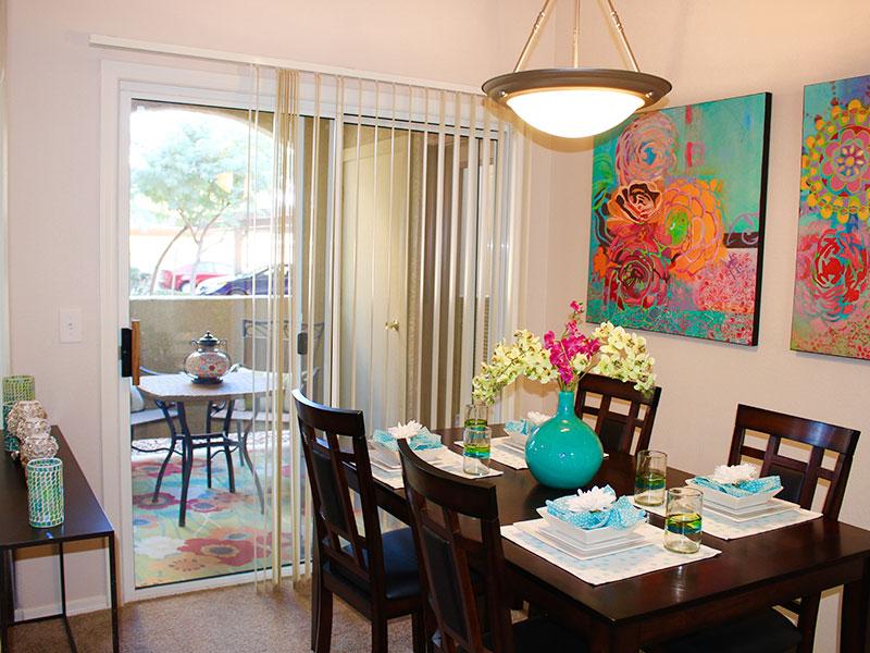 La Serena Toscana Apartments Dining Room and Deck